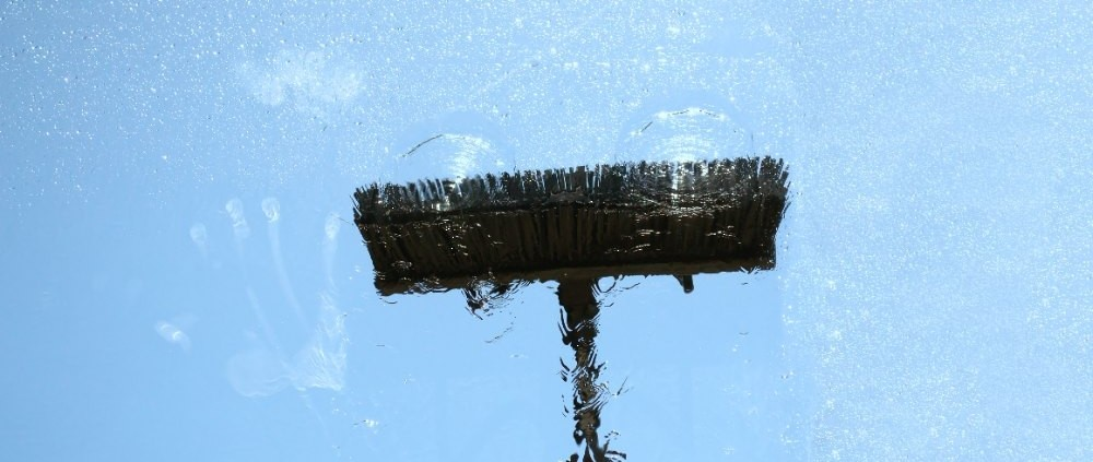 osmosewater bij glasbewassing